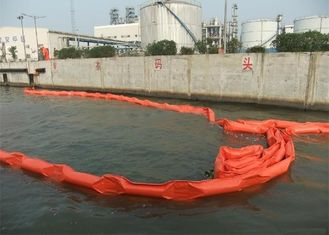 Customized Color Oil Containment Boom Fabricated With Special Rubber Cloth
